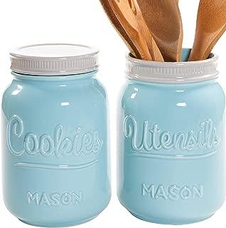 Best teal utensil jar Reviews