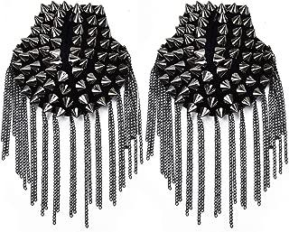 Monrocco Shoulder Epaulets Tassel Chain Metal Epaulettes Beads