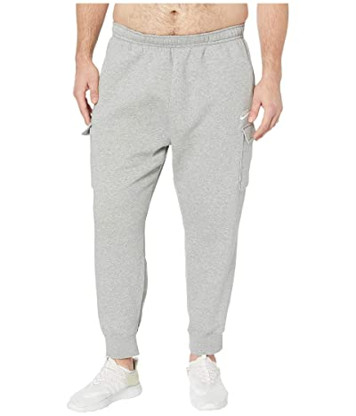 Nike Big Tall NSW Club Pants Cargo (Dark Grey Heather/Matte Silver/White) Men