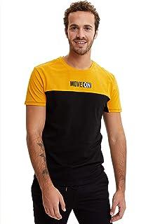 DeFacto Baskılı Slim Fit T-shirt Tişört Erkek