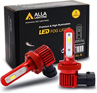 Alla Lighting 5200lm AL-R H8 H11 LED Fog Light Bulbs Xtreme Super Bright 12V DRL, 6K Xenon White