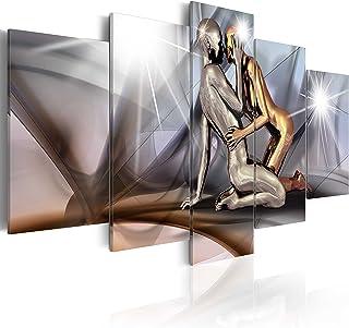 B&D XXL murando Impression sur Toile intissee 200x100 cm 5 Pieces Tableau Tableaux Decoration Murale Photo Image Artistiqu...