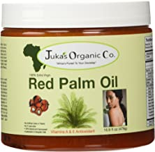 Juka's Red Palm Oil (100% Organic & Natural From Africa)(16.9 FL OZ)