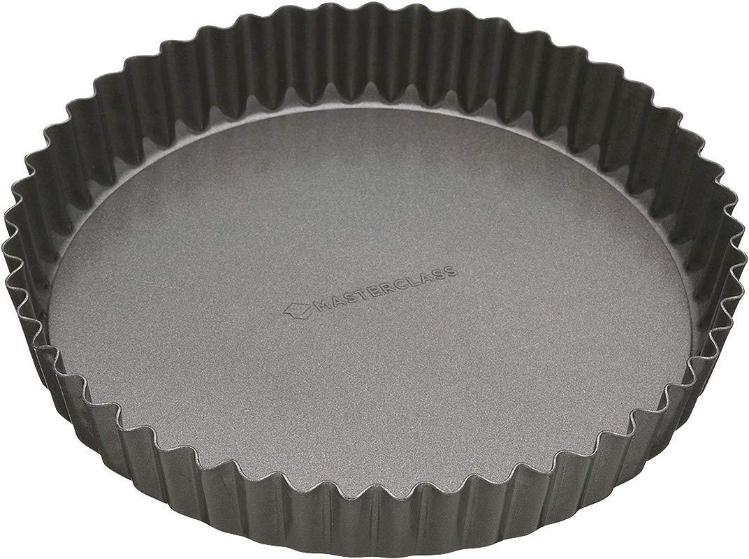 23cm Non Stick Fluted Loose Base Round Quiche Tin
