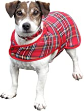 Glen Appin Lovely Shower-proof Poly Viscose Royal Stewart Tartan Dog Coat with Fleece Lining- Available in 3 sizes