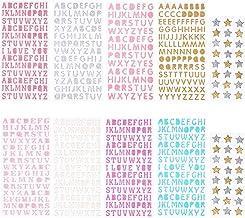 Glitter Letter Gift Alfabet Sticker Zelfklevende Letters en Star Stickers 10 Vellen