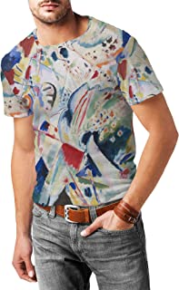 Rainbow Rules Kandinsky Abstract Art Painting Mens Cotton Blend T-Shirt - XS