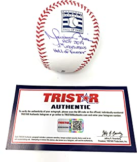 Mariano Rivera New York Yankees Signed Autograph Official MLB Baseball HOF DUAL RARE INSCRIBED Tristar Authentic Certified