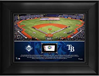 "Tampa Bay Rays Framed 5"" x 7"" Stadium Collage with a Piece of Game-Used Baseball - MLB Team Plaques and Collages"