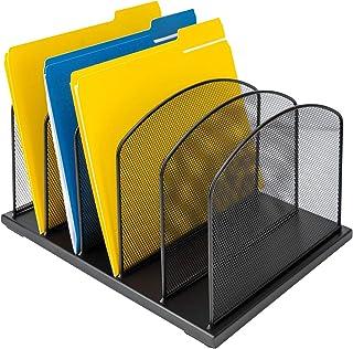 AmazonBasics 5-Tier File Organizer, Black Steel, 2-Pack