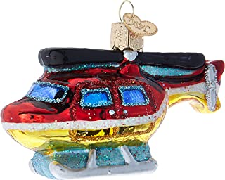 Old World Christmas 46075 Ornament, Helicopter