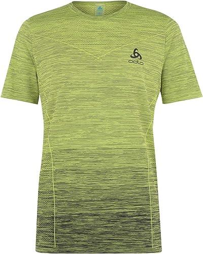 Odlo Kamile T-Shirt de Course à Pied col Rond pour Homme Vert Citron Taille XL