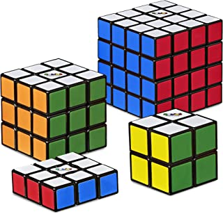 Rubik's Solve the Cube Bundle 4 Pack, Original Rubik's Products, Toy for Kids Ages 8 and Up (Amazon Exclusive)