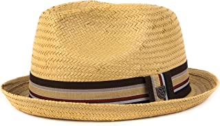 Brixton Men's Castor Straw Fedora Hat