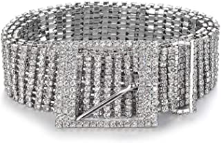Women Crystal Rhinestone Chain Waist Belt Party Club Sparkle Waistband
