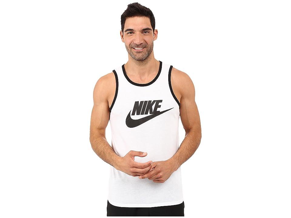 Nike Ace Logo Tank Top (White/Black/Black) Men
