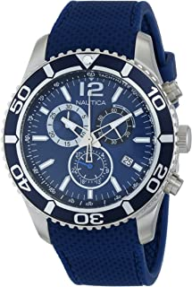 Men's N15103G NST 09 Stainless Steel Watch with Blue Silicone Band