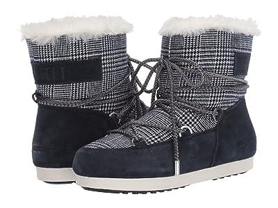 MOON BOOT Moon Boot(r) Far Side Low Faux Fur/Tartan (Blue) Women