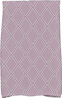 منشفة مطبخ بطباعة هندسية على شكل E by Design Diamond Dots Holiday، مقاس 40.64 سم × 63.5 سم، لون أرجواني