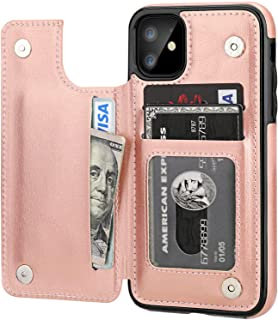 iPhone 11 Pro Case with Card Holder, Rumanle PU Leather Kickstand Card Slots Case,Double Magnetic Clasp and Durable Shockp...