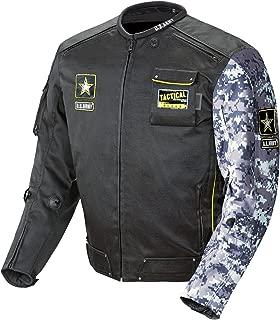 Joe Rocket U.S. Army Alpha Men's Motorcycle Riding Jacket (Black/Gray Camo, X-Large)