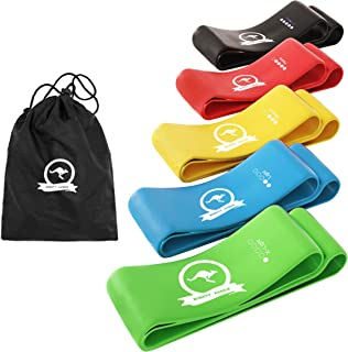Mighty Aussie Resistance Bands - Set of 5 Anti-Slip Rubber Loops for Workout, Stretching, Strength Training, Rehabilitatio...