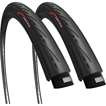 2x Impac Racepac TYRE WIRE 28x1,0 25-622mm 700x25C Road Bike Black 7110120
