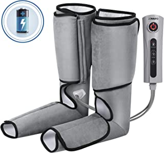 Naipo Leg Massager Cordless for Foot and Calf Massage Battery Operated Machine with 3 Intensities and 2 Modes(Upgraded)