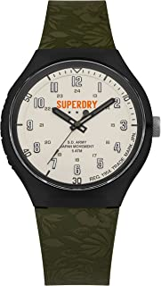Superdry Urban XL Tropical Camo Analog Off-White Dial Men's Watch-SYG225N