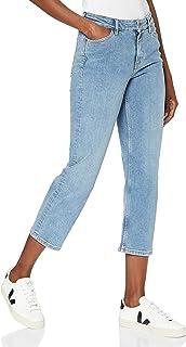 MERAKI Jeans Slim Fit alla Caviglia Vita Regular Donna, Cotone Organico