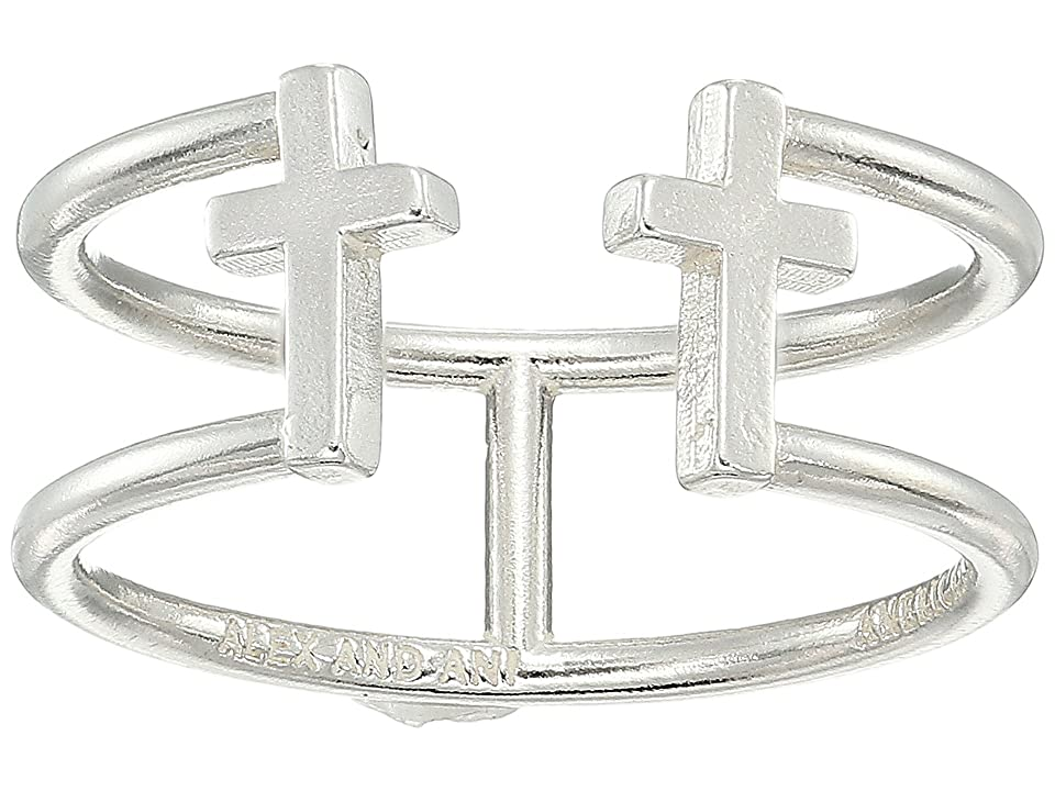 Alex and Ani Cross Ring (Sterling Silver) Ring