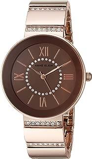 Anne Klein Women's AK/2946RMRG Swarovski Crystal Accented Rose Gold-Tone Bracelet Watch