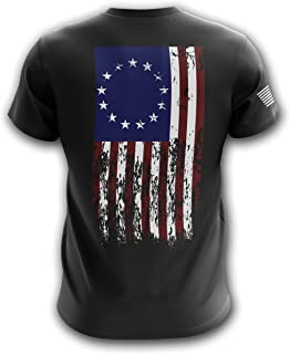 1776 We The People American Flag Military Army Mens T-Shirt Printed & Packaged in The USA