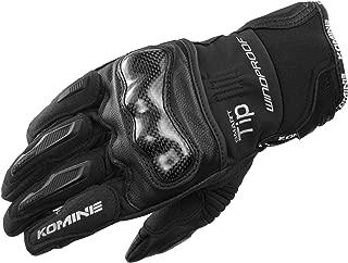 コミネ KOMINE バイク カーボンプロテクト ウインドプルーフ グローブ 防風 プロテクター Black/2XL 06-821 GK-821