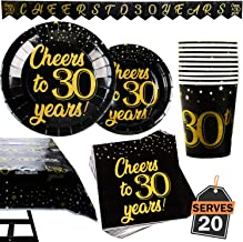 Best 30th birthday paper products Reviews