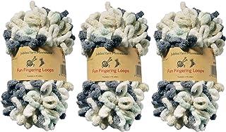 BambooMN Finger Knitting Yarn - Fun Finger Loops Yarn - 100% Polyester - Artemis - 3 Skeins