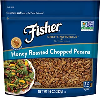 FISHER Chef's Naturals Honey Roasted Chopped Pecans, No Preservatives, Non-GMO, 10 oz