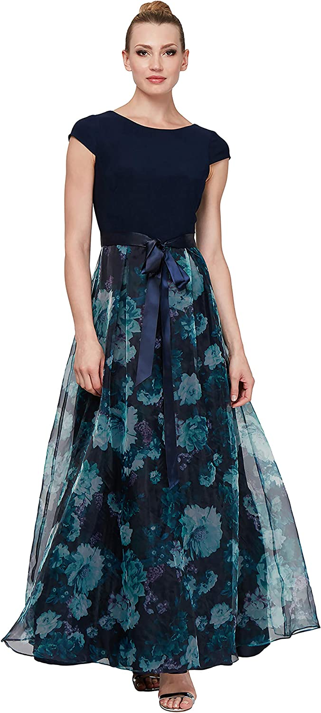 S.L. Fashions Women's Sleeveless Bead Waist Maxi Dress