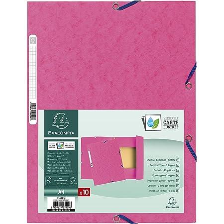 Exacompta 55520E - Carpeta con goma, A4, color rosa