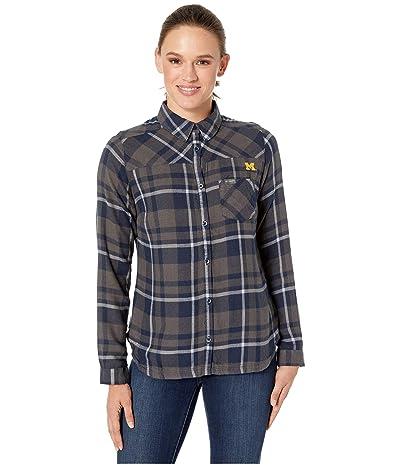 Columbia College Michigan Wolverines Flare Guntm Shirt (Collegiate Navy) Women