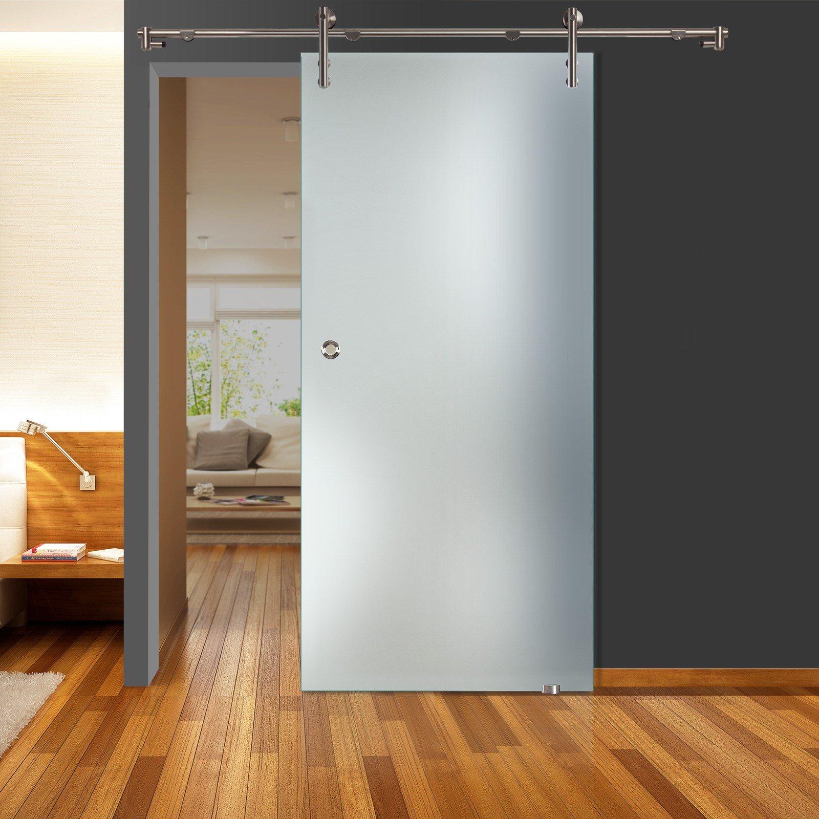 Correderas de cristal de puerta de zona llena mate QSS011 - V1000 - GM 900 x 2050 mm