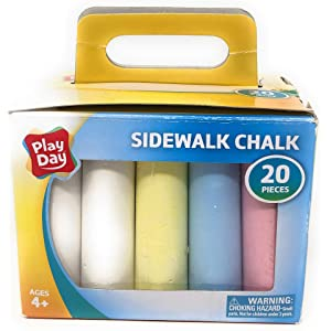 Creativity Street 1752 Sidewalk Chalk Jumbo Stick 4 x1 Dia 12 Assorted Color