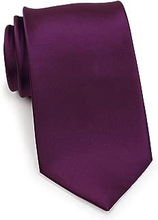 Bows-N-Ties Men's Necktie Solid Color Microfiber Satin Tie 3.25 Inches