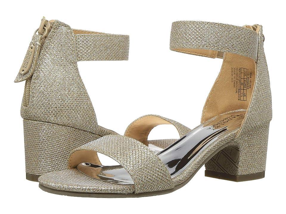 Badgley Mischka Kids Pernia Velma (Little Kid/Big Kid) (Light Gold Shimmer) Girls Shoes