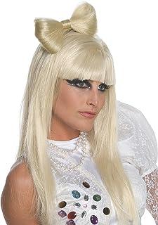 Rubie's Women's Lady Gaga Bow Clip Wig, Platinum blonde