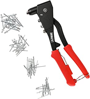 ARES 70017 | Professional Pop Rivet Gun with 60 Rivets | Applications Include Sheet Metal, Automotive, and Duct Work
