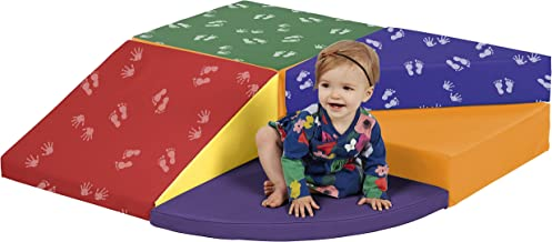 ECR4Kids SoftZone Tiny Twisting Foam Corner Climber - Indoor Active Play Structure for Toddlers and Kids - Soft Foam Play Set, Primary