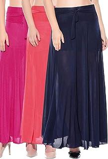 Dashy Club Kombination med 3 st rosa röd blå solid crepe full längd utsvängda kjolar
