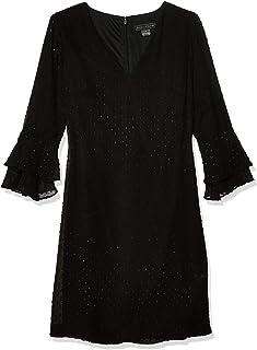 فستان حريمي فضفاض بأكمام مزدوجة ورقبة على شكل حرف V من Jessica Howard