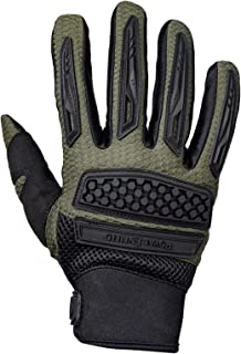Royal Enfield Olive Faux Leather Protective Riding Gloves for Men (RRGGLK000013)